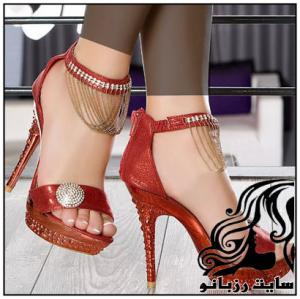 مدل های کفش های پاشنه بلند مجلسی دخترانه