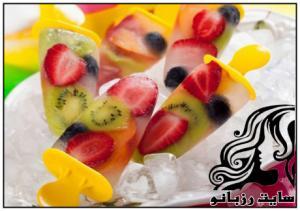نحوه ی تهیه بستنی یخی با میوه