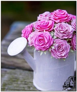 آموزش ساخت گل با کاغذ های رنگی