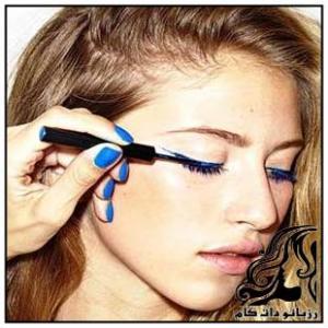 آموزش آرایش چشم با رنگ مختلف