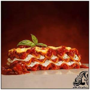 پیتزا لازانیا غذایی خوش طعم