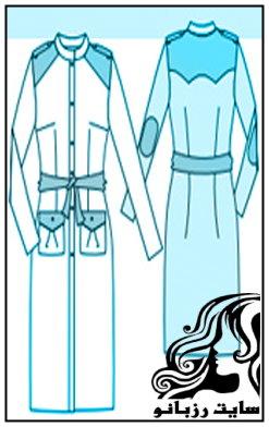 الگوی اولیه مانتوی قالب بدن (تنگ)