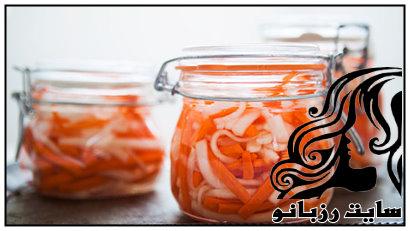 آموزش تهیه ی ترشی هویج و ترب سفید