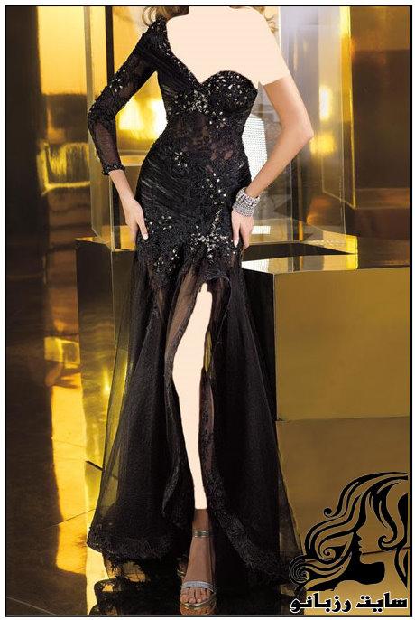 زیباترین مدل های لباس شب مشکی 2016
