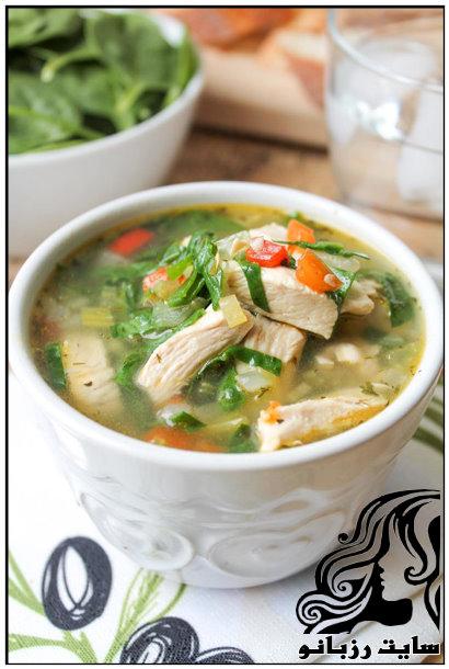 آموزش تهیه سوپ مرغ و سبزیجات