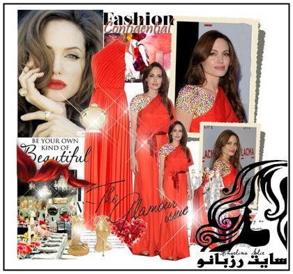 استایل های لباس شب آنجلینا جولی