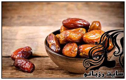 خرما تغذیه ای سالم و مفید برای افطار