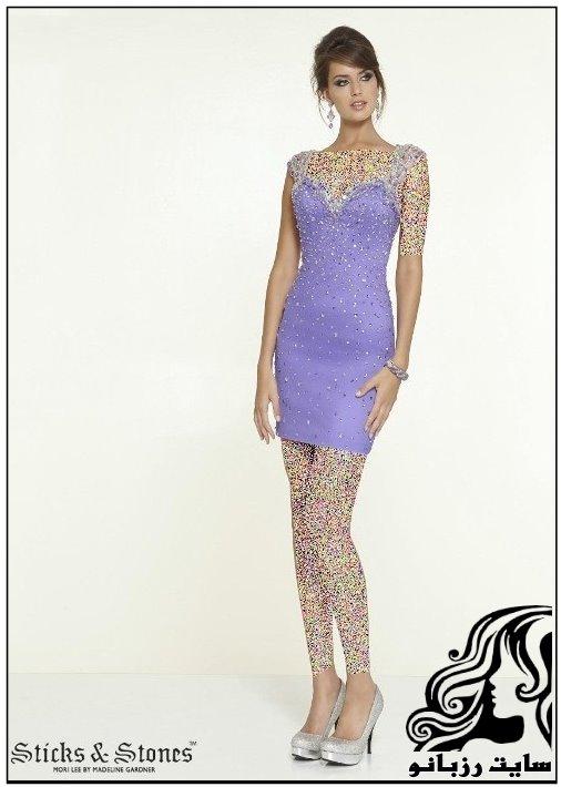 مدل های شیک لباس مجلسی کوتاه دخترانه