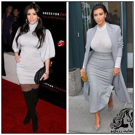 مدل لباس های کیم کارداشیان به انتخاب مجله ال