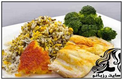 طرز تهیه ی سبزی پلو ماهی هندی