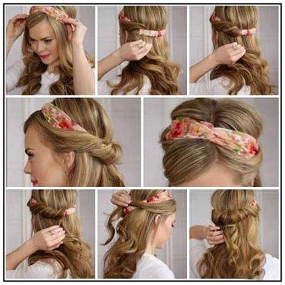 نمونه های بستن دستمال سر و آرایش مو