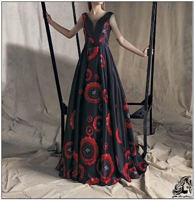 مدل های لباس مجلسی بلند دخترانه گیپور kenzel
