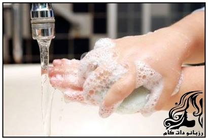 یاد دادن نحوه صحیح بهداشت و شستن دست به فرزند
