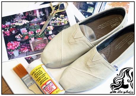 راهنمای تصویری تزیین کفش کتان