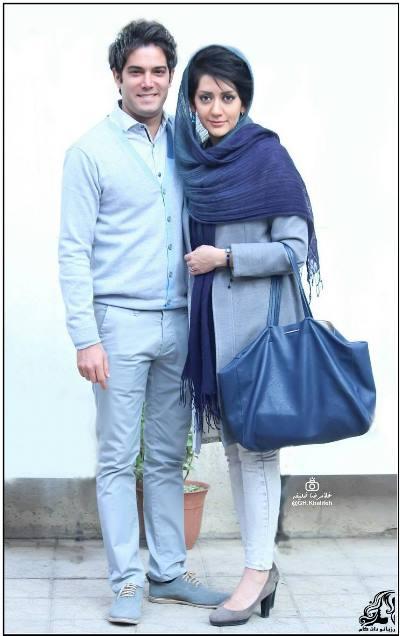 تصاویر امیرعلی نبویان و همسرش در تماشاخانه ارغنون
