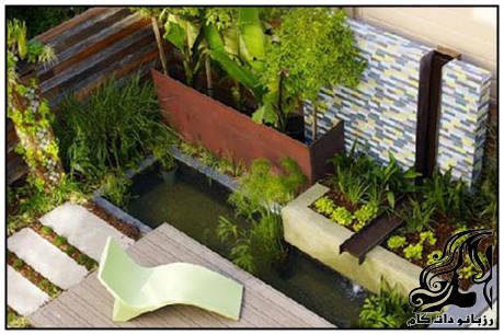 نمونه های طراحی و دیزاین باغچه در حیاط کوچک خانه