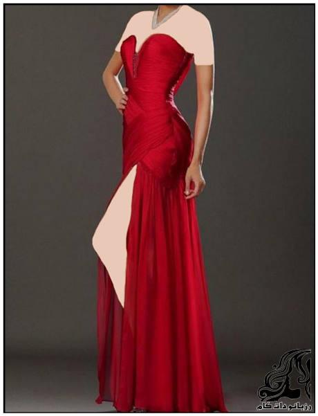 شیک ترین مدل لباس مجلسی قرمز