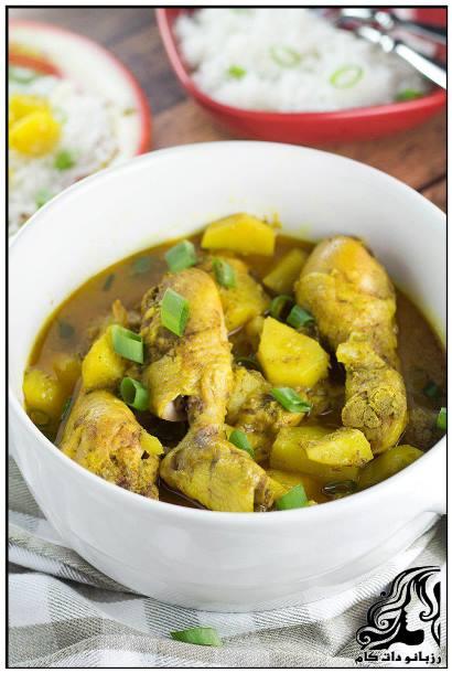 طرز تهیه خوراک مرغ جامائکایی با کاری