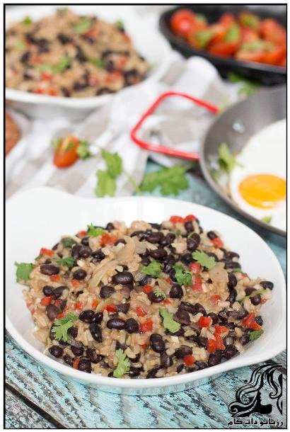 طرز تهیه خوراک دنده با برنج و نخود فرنگی