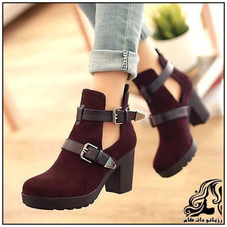 مدل های جدید و شیک کفش عنابی شرابی رنگ