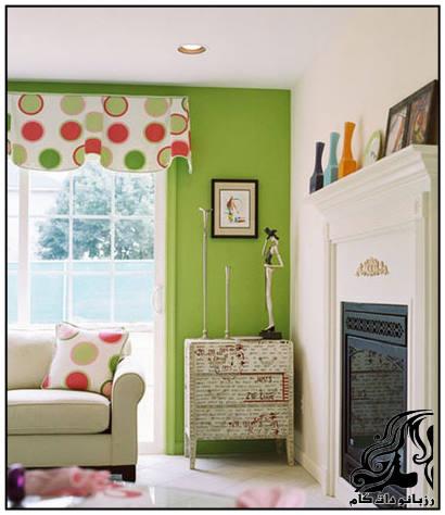 دکوراسیون داخلی به رنگ سبز و زیبا