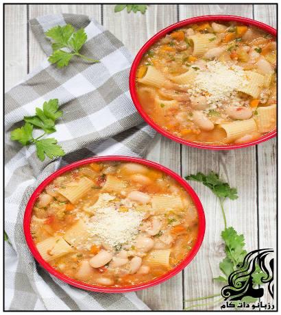 پاستا با سوپ لوبیای سفید(ایتالیایی)