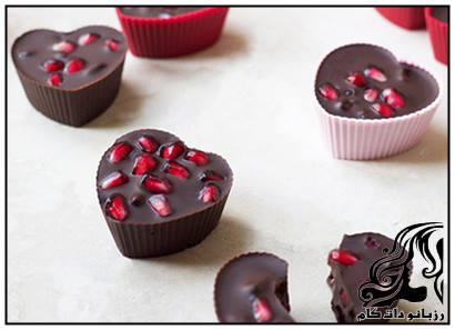 دسر شکلات انار مخصوص شب یلدا