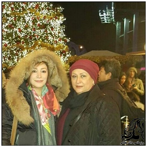 مریم امیرجلالی و دخترش هدیه در مونترئال کانادا