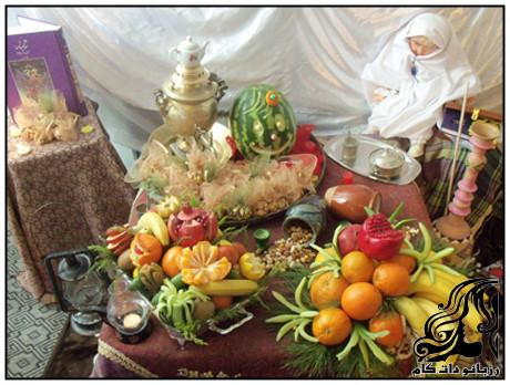 تزیین سفره شب یلدا به سبک سنتی