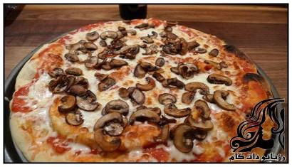 طرز تهیه پیتزای قارچ و ژامبون