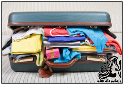 قرار دادن صحیح لباس در چمدان