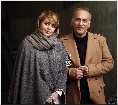 حمیدرضا آذرنگ و همسرش ساناز بیان