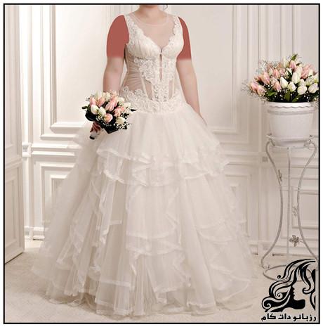 جدید ترین مدل های لباس عروس سایز بزرگ