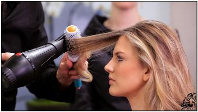 راهنمای کشیدن سشوار بدون وز شدن موها