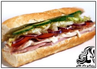 طرز تهیه ساندويچ فرانسوی گرم