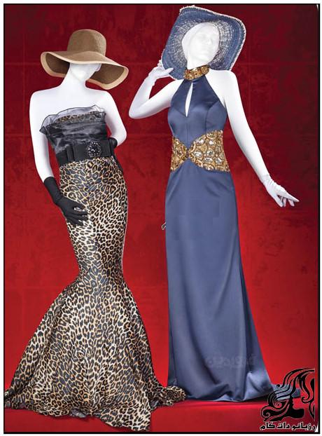 راهنمای دوخت دو لباس مجلسي زيباي زنانه با يك الگو