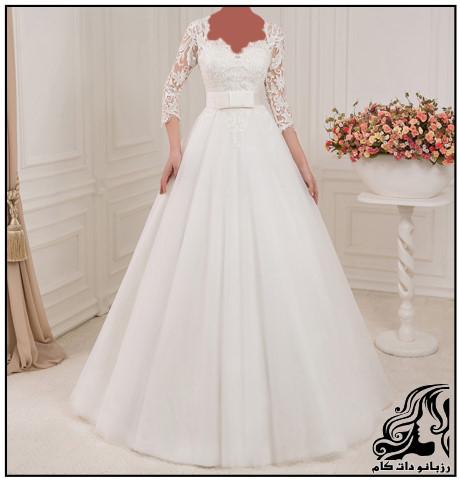 زیباترین لباس عروس های آستین دار