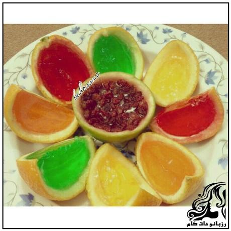 طرز تهیه پرتقال ژله ای