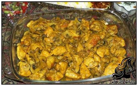 طرز تهیه خوراک فیله مرغ با قارچ