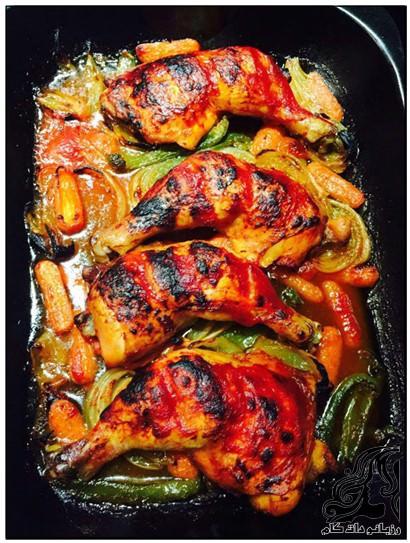 روش تهیه مرغ داخل فر