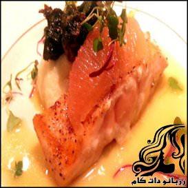 ماهی سالمون با چاشنی گریپ فروت