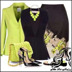 ست کردن لباس رنگی