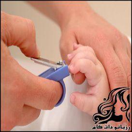 نحوه ی کوتاه کردن ناخن های نوزاد