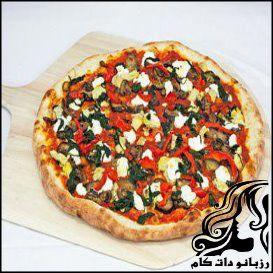 پیتزا بادمجان و اسفناج