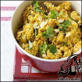 طرز تهیه بريانی مرغ هندی