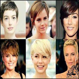 انواع گوناگون مدل موی چتری