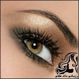آموزش آرایش چشم به رنگ فندقی