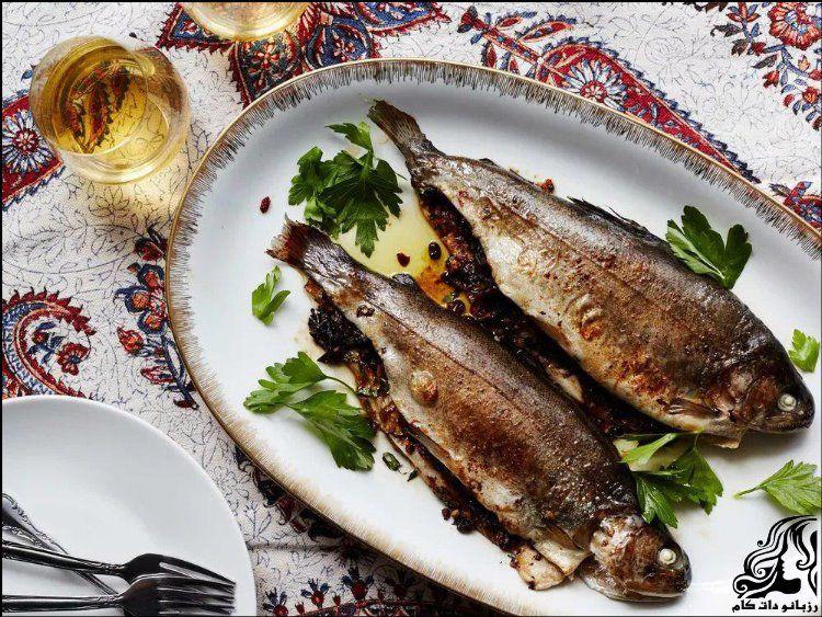 طرز تهیه ماهی شکم پر بدون فر