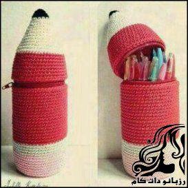 آموزش بافت جامدادی با طرح مداد