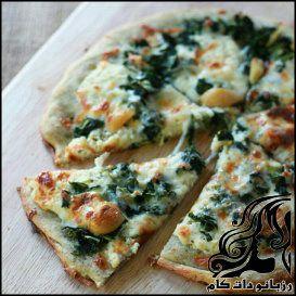 طرز تهه پیتزا اسفناج
